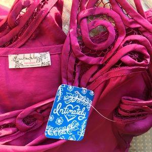 Free People Tops - NEW Free People Silk Crochet Top Cropped Tank